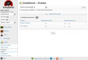 RosarioSIS Gradebook Grades