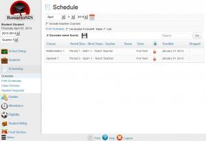 RosarioSIS Student Schedule