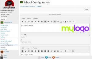 PDF Header and Footer plugin screenshot