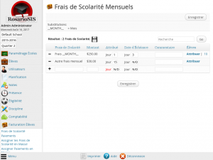 Screenshot du module Facturation Élèves Premium