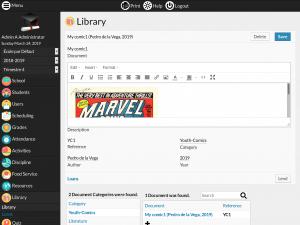 Library module screenshot