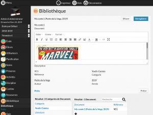 Screenshot Module Bibliothèque