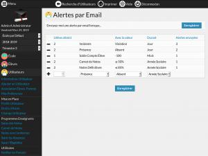Screenshot Module Alertes par Email