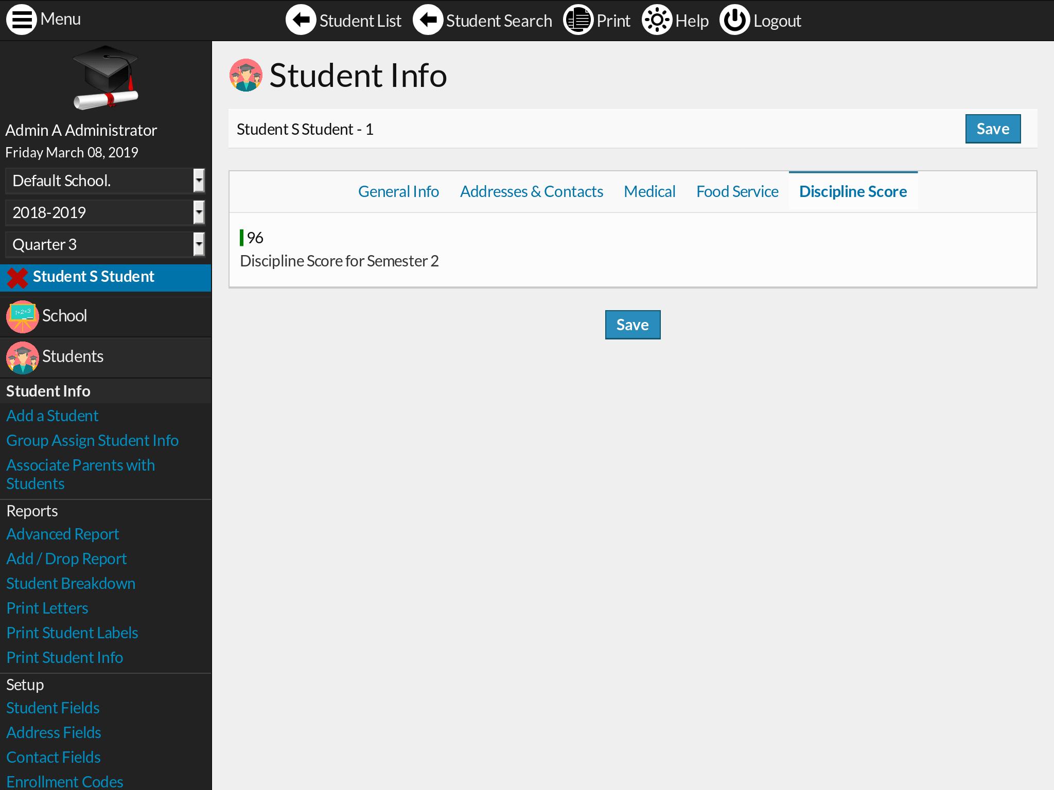 Discipline Score plugin screenshot
