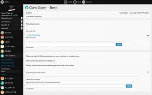 Class Diary Premium module screenshot
